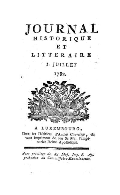 Journal historique et littéraire - 1782-07-01