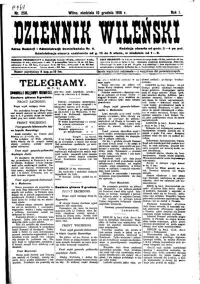 Dziennik Wileński - 1916-12-10