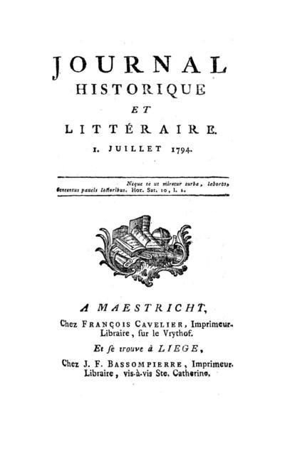 Journal historique et littéraire - 1794-07-01