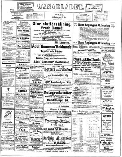 Vasabladet, nr: 63 - 1905-05-27
