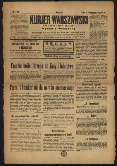 Kurjer Warszawski - 1939-09-05