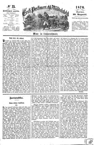 Eesti Postimees - 1870-08-19
