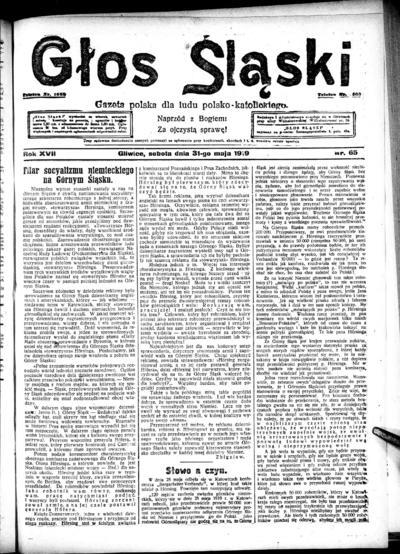 Głos Śląski - 1919-05-31