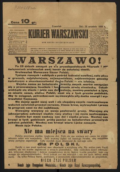 Kurjer Warszawski - 1939-09-28