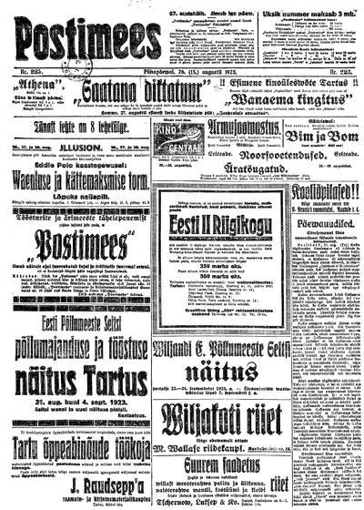 Postimees - 1923-08-26
