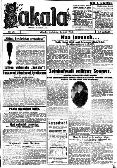 Sakala - 1930-07-08