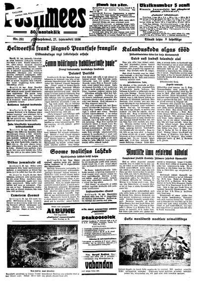 Postimees - 1936-09-27