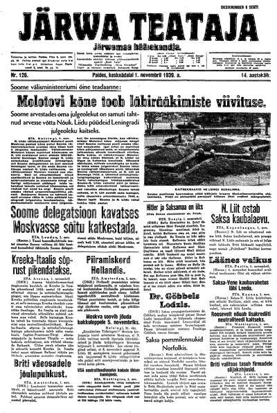 Järva Teataja - 1939-11-01