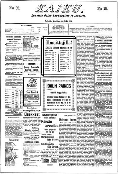Kaiku, nr: 35 Sanomia Oulun kaupungista ja läänistä - 1906-03-23