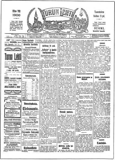 Turun Lehti, nr: 72 - 1906-06-21