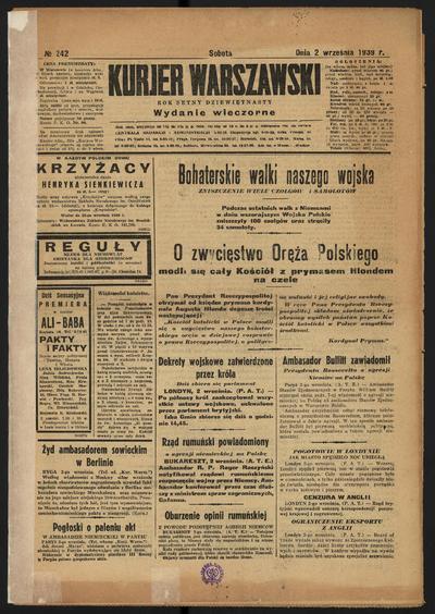 Kurjer Warszawski - 1939-09-02
