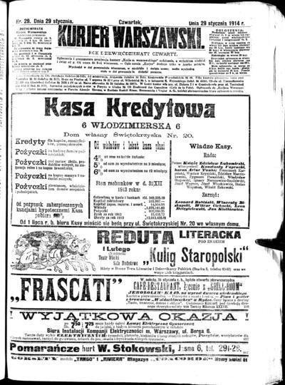 Kurjer Warszawski - 1939-01-29