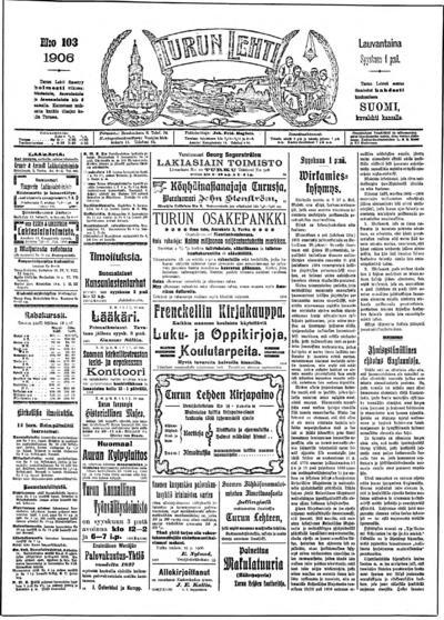 Turun Lehti, nr: 103 - 1906-09-01