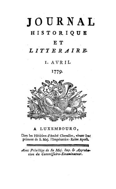 Journal historique et littéraire - 1779-04-01