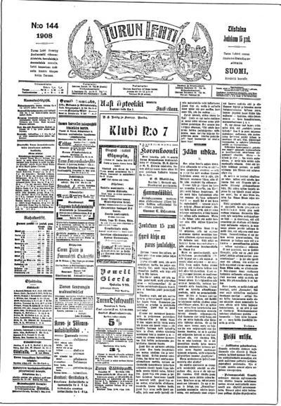 Turun Lehti, nr: 144 - 1908-12-15