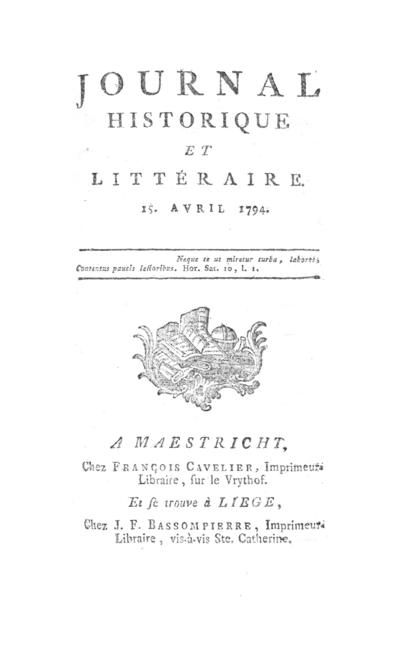 Journal historique et littéraire - 1794-04-15