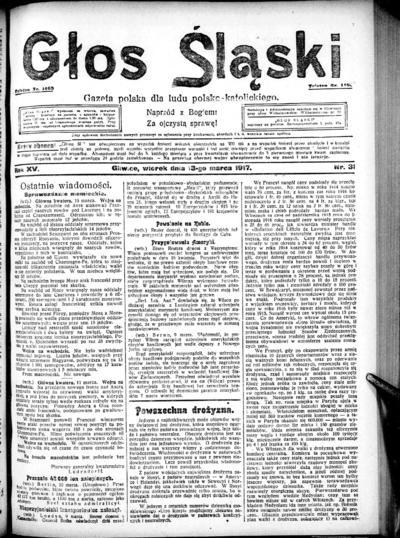 Głos Śląski - 1917-03-13