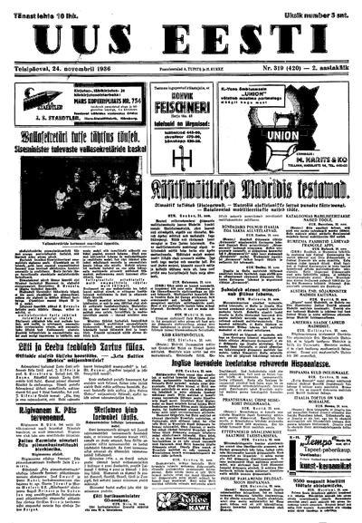 Uus Eesti - 1936-11-24