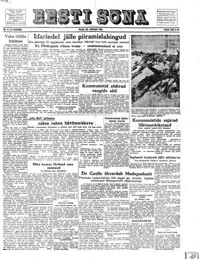 Eesti Sõna - 1942-02-20