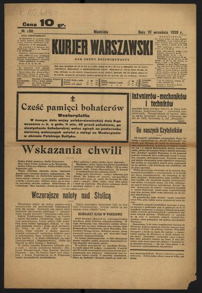 Kurjer Warszawski - 1939-09-10