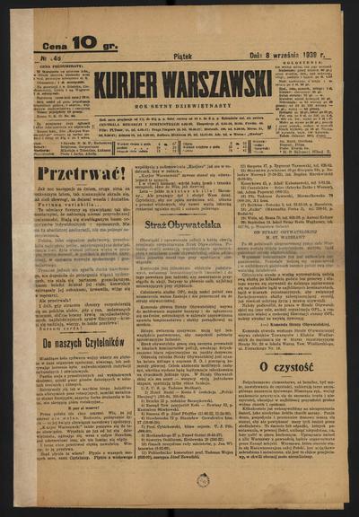 Kurjer Warszawski - 1939-09-08