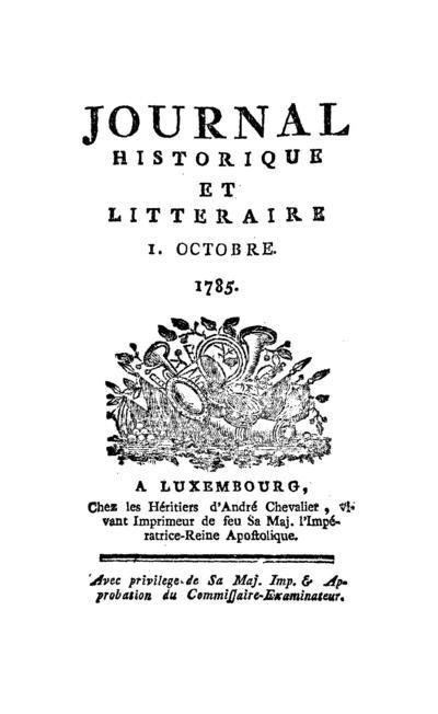 Journal historique et littéraire - 1785-10-01