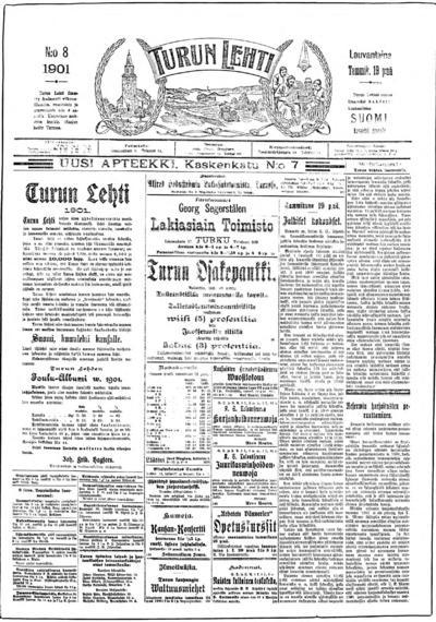 Turun Lehti, nr: 8 - 1901-01-19