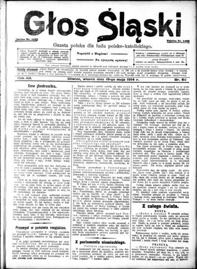 Głos Śląski - 1914-05-19