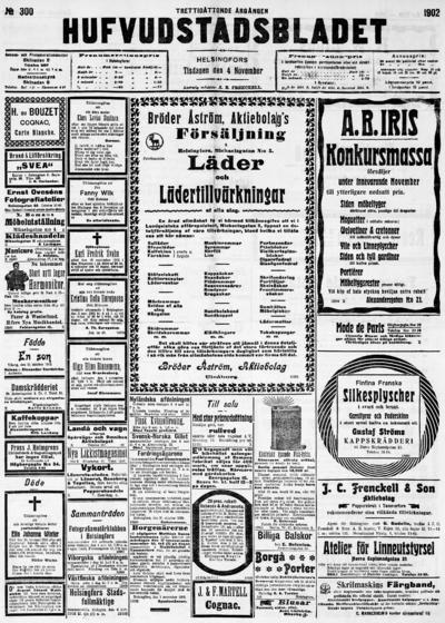 Hufvudstadsbladet, nr: 300 - 1902-11-04