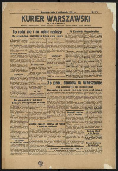 Kurjer Warszawski - 1939-10-04