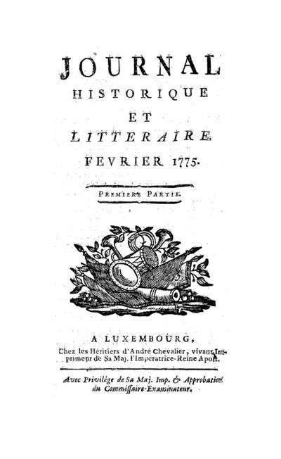 Journal historique et littéraire - 1775-02-01