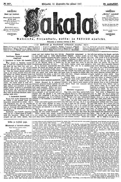 Sakala - 1887-09-12
