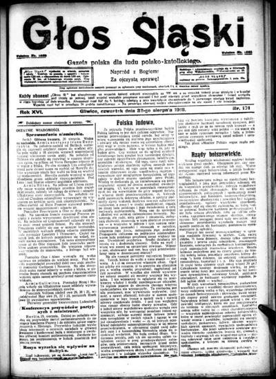 Głos Śląski - 1918-08-22