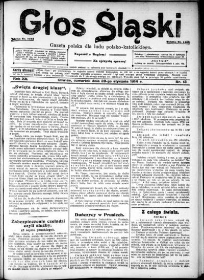 Głos Śląski - 1914-01-29