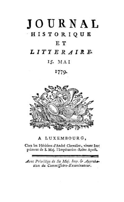 Journal historique et littéraire - 1779-05-15