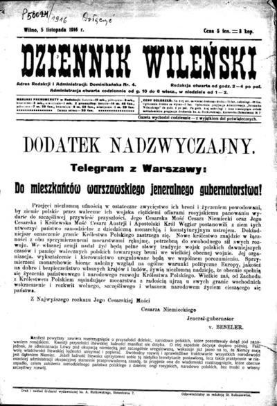 Dziennik Wileński - 1916-11-05
