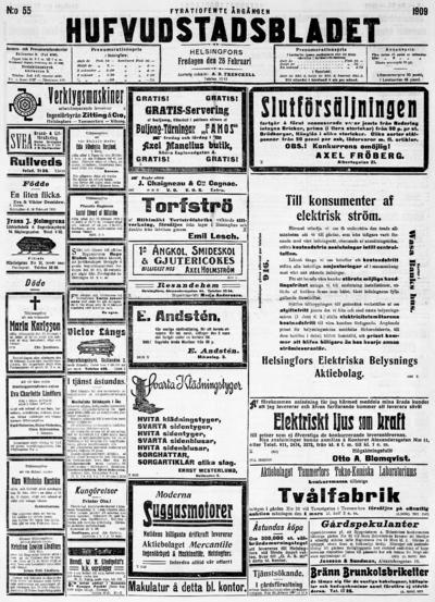 Hufvudstadsbladet, nr: 55 - 1909-02-26