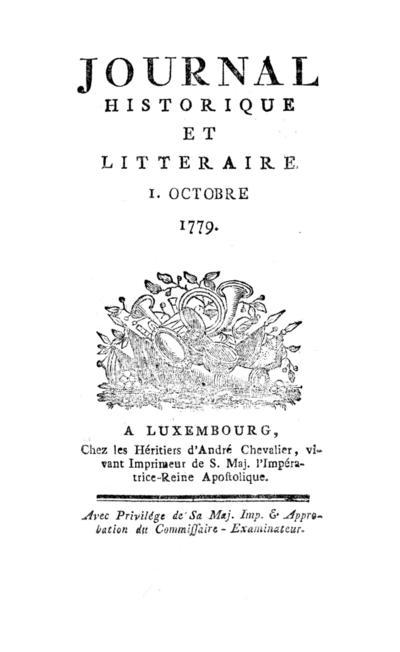 Journal historique et littéraire - 1779-12-15