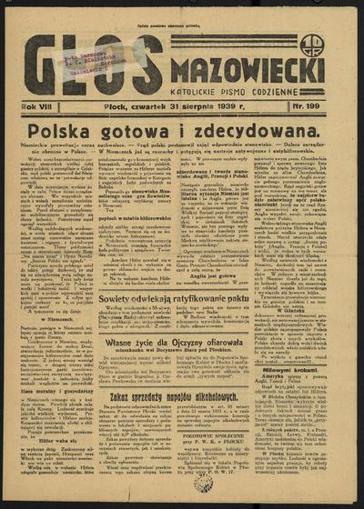 Głos Mazowiecki - 1939-08-31