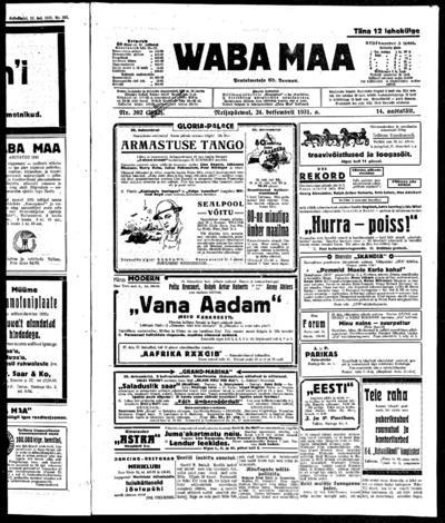 Waba Maa - 1931-12-24