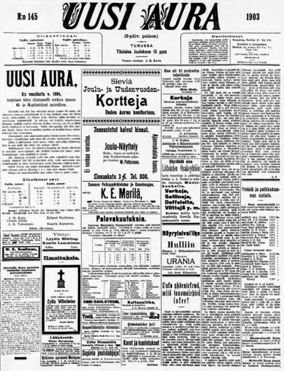 Uusi Aura, nr: 145 - 1903-12-15