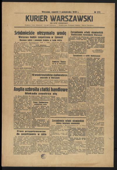 Kurjer Warszawski - 1939-10-05