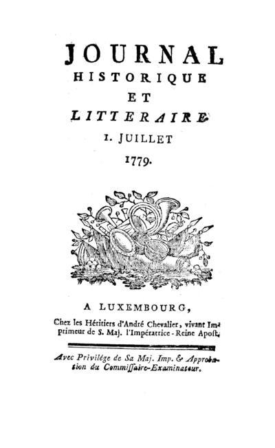 Journal historique et littéraire - 1779-07-01