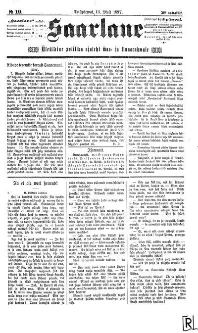 Saarlane - 1897-05-13
