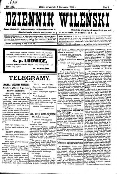 Dziennik Wileński - 1916-11-09