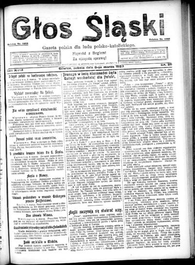 Głos Śląski - 1920-03-06