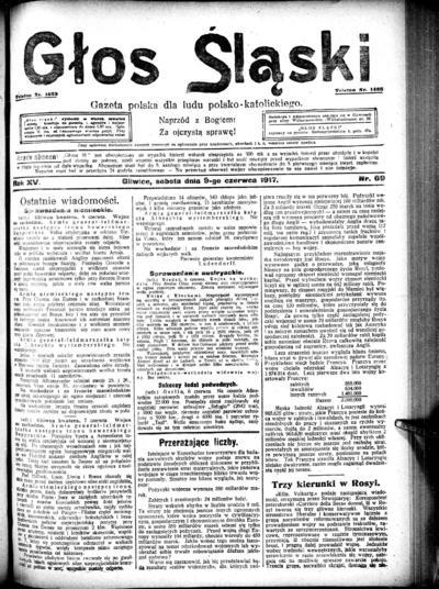 Głos Śląski - 1917-06-09