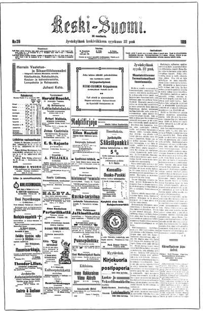 Keski-Suomi, nr: 216 - 1909-09-22
