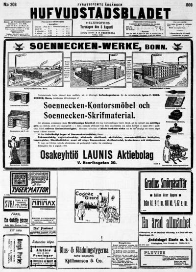 Hufvudstadsbladet, nr: 208 - 1909-08-05