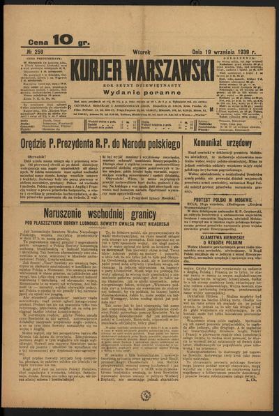Kurjer Warszawski - 1939-09-19